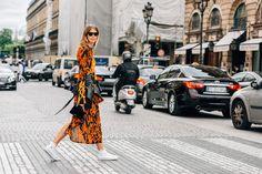 Orange, Black, Sunglasses, White, Paris, Veronika Heilbrunner, Women, Prints, Leather Jackets, Frayed, Sneakers, Dresses, Bags, Converse, Acne Studios, Ray-Ban, 1 Person, FW16 Women's Couture
