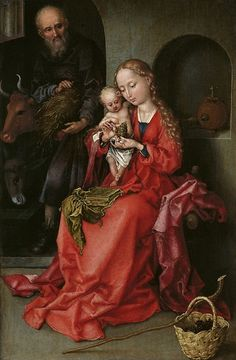 Martin Schongauer: La Sagrada Familia, 1490.