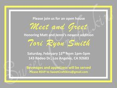 Check Out This Adorable Invitation To A Baby Meet N Greet Like