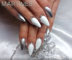 by Martyna Bryzek, Follow us on Pinterest. Find more inspiration at www.indigo-nails.com #nailart #nails #white #silver
