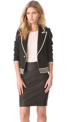 LAVEER Border Montage Blazer - GET THIS LOOK NOW ONLY AT www.shopbop.com/?extid=affprg-7101999