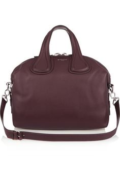Givenchy | Medium Nightingale bag in burgundy leather | NET-A-PORTER.COM
