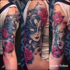 Venice mask tattoo