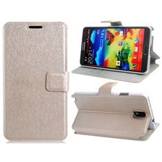 Wallet Case White for Samsung Galaxy Note 3