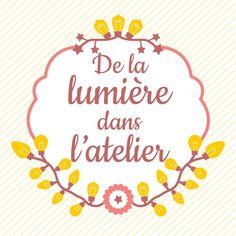 """Création du logo de la boutique """"De la lumière dans l'atelier"""" située rue du Père Adam à Rouen - ©celine voisin"""