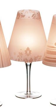 Wine Glass Lamp Shade. 4 for 9