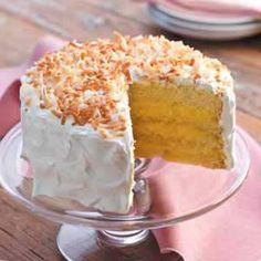 I make something close to this, only with lemon filling instead of vanilla.... Very Yummy!  Coconut Cream Dream Cake
