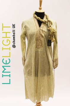C623L Beige 2 PC Kurta and Dupatta - Limelight Eid-ul-Adha Collection 2016