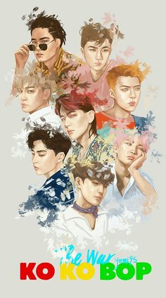 Find images and videos about kpop, exo and sehun on We Heart It - the app to get lost in what you love. Kpop Exo, Exo Kokobop, Exo 12, Kris Wu, Park Chanyeol, Exo Chanyeol, Kyungsoo, Kpop Anime, Exo Fanart