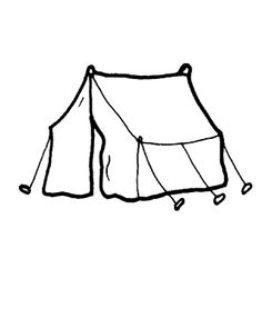 Tent For Living Coloring Page - Free Houses Coloring Pages . Abraham Und Sara, Tent Drawing, Tent House For Kids, House Colouring Pages, Coloring Sheets For Kids, Clipart Black And White, Free Printable Coloring Pages, Free Black, Tent Camping