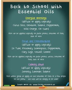 Back to school guide with essential oils