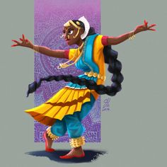 My first ever entry for the Character Design Challenge! Like we did last summer Dancing Drawings, Cool Drawings, Indian Illustration, Car Illustration, Illustrations, Character Inspiration, Character Design, Indian Classical Dance, Drawn Art