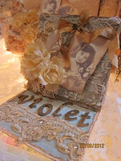 Altered Vintage Cards, Vintage Photos, Easel Cards, Photo Projects, Burlap Wreath, Altered Art, Decorative Boxes, Wreaths, Dolls