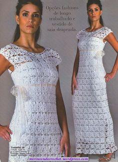Vestido blanco …ideal para lucir en estas fiestas…hacelo del largo que vos quieras | Mi Rincon de Crochet