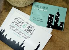 City Wedding Invitation  New York City  NYC  skyline by deaandbean