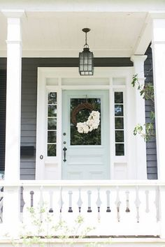 Eight fabulous front door ideas – Ramshackle Glam - Dekoration Ideen 2019 Home Design, Interior Design, Interior Ideas, Young House Love, Grey Houses, Modern Houses, Front Door Colors, Exterior House Colors, Minimalist Home