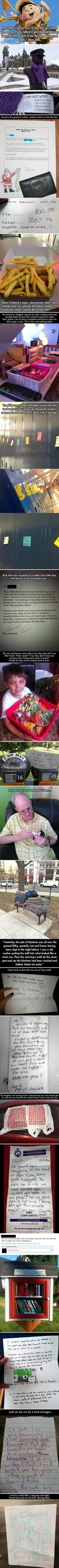 Here are 20 random acts of kindness that will restore your faith in humanity.