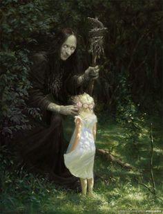 O mito que as bruxas pegavam crianças, para rouba-lhes a alma para permanecerem jovens ou para oferecer ao demônio