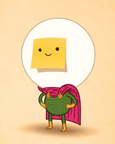 Post-it face / Mike Mitchell's Tumblr of Amazing Things.