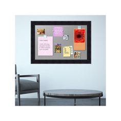 Amanti Art Wood Framed Magnetic Bulletin Board Wall Decor, Brown