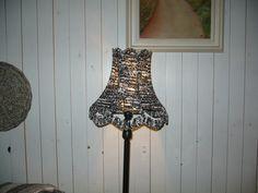 vintage lamp met eco bekleding