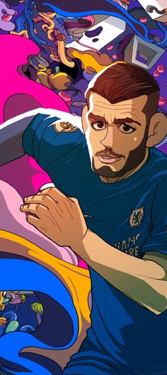 Four Four Two cover illustration in relation with EPL Premier league Retro Football, Football Art, Football Memes, Fifa, Chelsea Fc Wallpaper, Four Two, Soccer Art, Alone Photography, Beast Boy