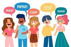 Illustration with group of people talkin. Kid Experiments, People Talk, Doodle Art, Illustration, Character Design, Doodles, Cartoon, Vector Freepik, Kids