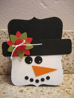 Stampin' Up!  Top Note Snowman  Cari Sheppard  Christmas