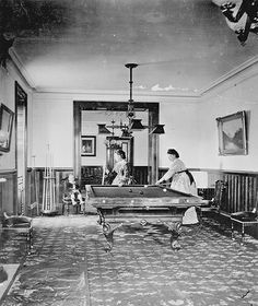 Women playing pool 1870's | Flickr - Photo Sharing!