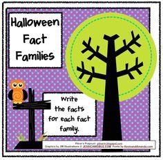 Classroom Freebies: Halloween Fact Families!
