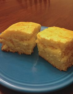Cake-like Corn Bread. Fluffy and not dry or crumbly. I used half the eggs it called for and it was still de-lish!  So good but took longer than a half hour to bake. **see my Honey Butter pin to complement this corn bread.**