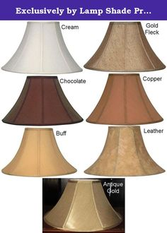 "Exclusively by Lamp Shade Pro - 21 Colors Sizes 16-24"" Wide Coolie Bell Silk Shantung Lamp Shade, Cream, Copper, Chocolate, Gold, Buff, Fleck, Leather, Soft Luxury Lining -Option=16""wide-GOLD FLECK. FITTING & SIZE HELP Visit Lamp Shade Pro website www.lampshadepro.com Call 704-732-8001 for professional friendly service (9-5 M-F, 9-2 Sat) 1,000's of Lamp Shades & Unique Lighting Many exclusive products designed and made here in the lovely North Carolina foothills Returns accepted, no…"