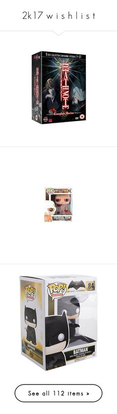 """""""2k17 w i s h l i s t"""" by xxghostlygracexx ❤ liked on Polyvore featuring movies, dvd, anime, backgrounds, death note, home, home decor, vinyl figure, vinyl figurines and vinyl home decor"""