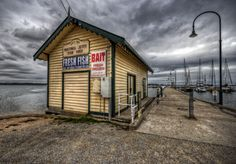 Fish shed and bait shop in the quiet seaside town of Hastings on the Mornington Peninsula in Victoria, Australia Tackle Shop, Bait And Tackle, Community Space, Seaside Towns, Fishing Bait, Victoria Australia, Melbourne Australia, Outdoor Photography, Lake District