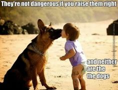 Dog and Baby Photo Funny Quote. So cute!