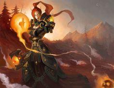 World of Warcraft - Blood Knight Lynesta by Vaejoun
