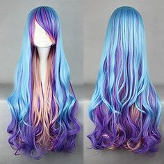 Vocaloid 2017 Star & Snow Princess Snow Miku Cosplay Hairwear Super Long Light Blue Wavy Wig We Have Won Praise From Customers Costumes & Accessories