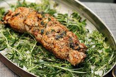 Två små kök: Parmesan-, spenat- och baconfylld fläskfilé med potatisbakelse Starters, Parmesan, Meat, Chicken, Food, Essen, Meals, Yemek, Eten