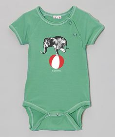 Teal Circus Elephant 'I Got This' Organic Bodysuit - Infant | something special every day