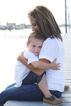 Mommy and son beach pictures