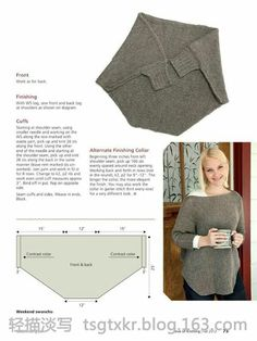Gestrickter Poncho - - - pattern - - - - - - Love of Knitting Fall Diy Clothing, Sewing Clothes, Crochet Clothes, Knitting Patterns, Sewing Patterns, Crochet Patterns, Loom Knitting, Fall Knitting, Knitting Machine