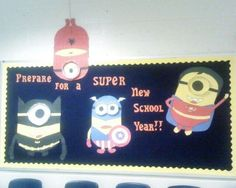 This Prepare For A Super New School Year! - Super Minions Display is just one of our many bulletin board ideas. We have thousands of fun and unique teaching ideas that are great for the classroom and at home! Minion Bulletin Board, Superhero Bulletin Boards, Back To School Bulletin Boards, Bulletin Board Display, Classroom Bulletin Boards, Superhero Classroom Door, Minion Classroom, New Classroom, Classroom Themes