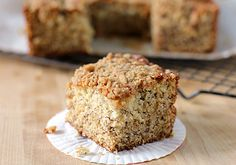 banana streusel cake!  What a great treat for a morning brunch or a post dinner coffee/dessert