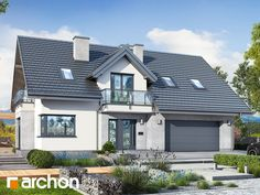 Dom w rododendronach 15 2 Storey House Design, Home Fashion, Sliding Doors, Planer, House Plans, Pergola, Exterior, Mansions, House Styles