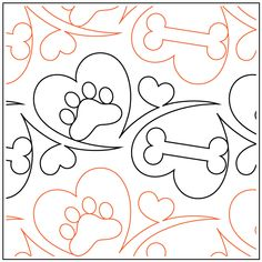 Woof - Pantograph / © 2019 Melonie J. Machine Quilting Designs, Quilting Projects, Quilting Ideas, Longarm Quilting, Free Motion Quilting, Quilt Stitching, Digital Pattern, Quilt Patterns, Mandala