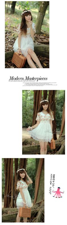 high waist, sweet pastoral veil dress
