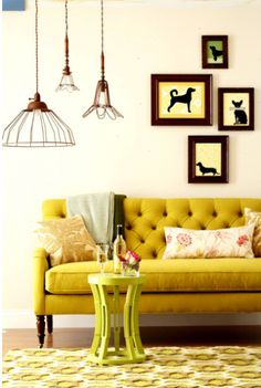 I love this yellow tufted sofa simply grove by atexski, via Flickr!