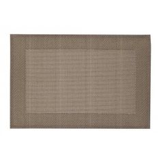 Beautiful synthetic placemat in Sand metallic with folded edges from Dixie