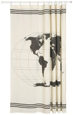 Cotton waffle shower curtain ms bathroom pinterest waffles now designs shower curtain world map these thick durable cotton shower curtains are the perfect canvas to showcase stylish designs on a large scale gumiabroncs Gallery