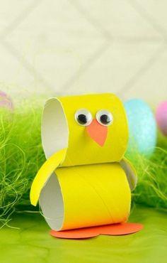 Tischdeko selber machen zu Ostern  70 Bastelideen für die besondere persönli Easter Crafts For Toddlers, Easter Arts And Crafts, Spring Crafts For Kids, Toddler Crafts, Summer Crafts, Fun Diy Crafts, Bunny Crafts, Craft Stick Crafts, Craft Ideas